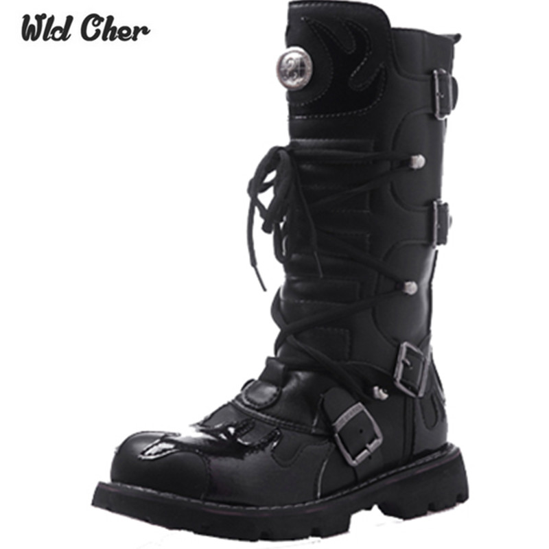 High Quality Genuine Leather Men High Boots Black Military Boots Tactical Boots Army Boots Men Botas Leather Shoes Men Shoes
