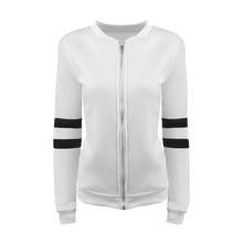 Nice Women Spring Basic Jacket Long Sleeve Zipper Sportwear Coat Female Outerwear Casual Patchwork Chaquetas Vogue Top