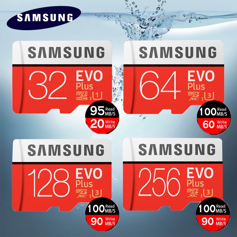 Original SAMSUNG EVO Plus Memory Card 64GB U3 EVO + 128GB 256GB Class10 Micro SD Card 32GB 16GB microSD UHS-I U1 TF Card londisk microsd 16gb 32gb 8gb class10 uhs 1 flash memory card 64gb 128gb 256gb u3 micro sd card tf card for smartphone camera