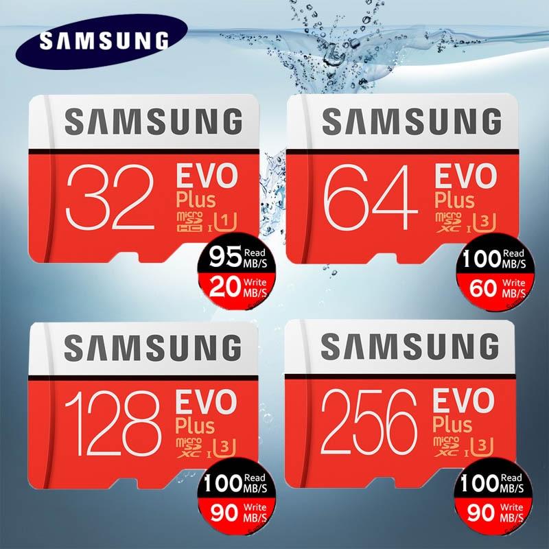 Original SAMSUNG EVO Plus Speicher Karte 64 GB U3 EVO + 128 GB 256 GB Class10 Micro SD Karte 32 GB 16 GB microSD UHS-I U1 TF Karte
