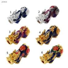 Китайские бусины Pixiu с изменением температуры настроения, счастливый амулет, аксессуары для изготовления ювелирных изделий, Прямая поставка