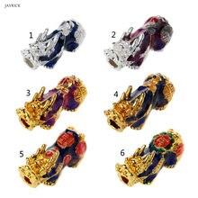 Китайские бусины Pixiu с изменением цвета и температуры настроения, амулет на удачу, аксессуары для изготовления ювелирных изделий, Прямая по...