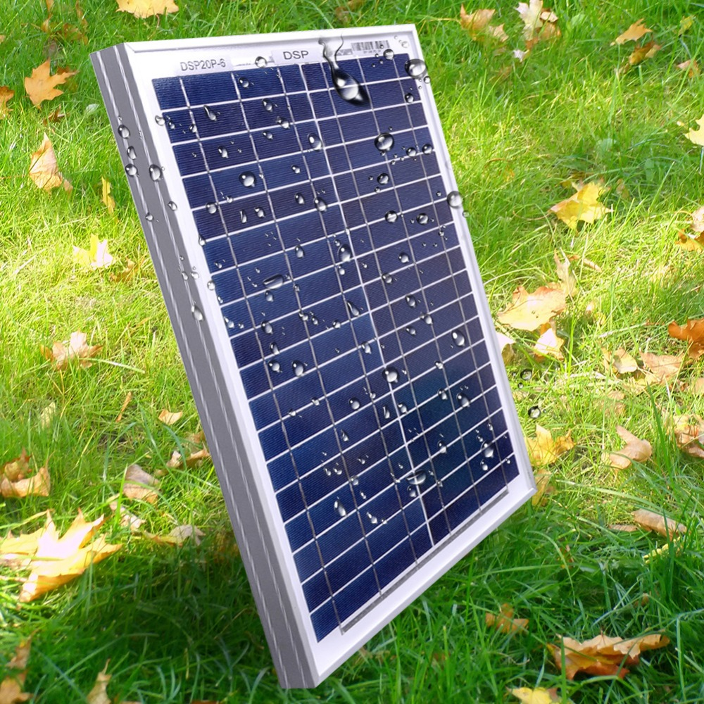 Image 5 - DOKIO 18 Volt 12V 20Watt Small Solar Panel China Waterproof Panels Solar Sets Cell/Module/System/Home/Boat 10A 12/24V Controlle-in Solar Cells from Consumer Electronics