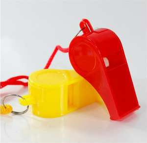 24pcs/Bag Lanyard Plastic Whistle Sports-Games Survival Emergency with for Boats Raft