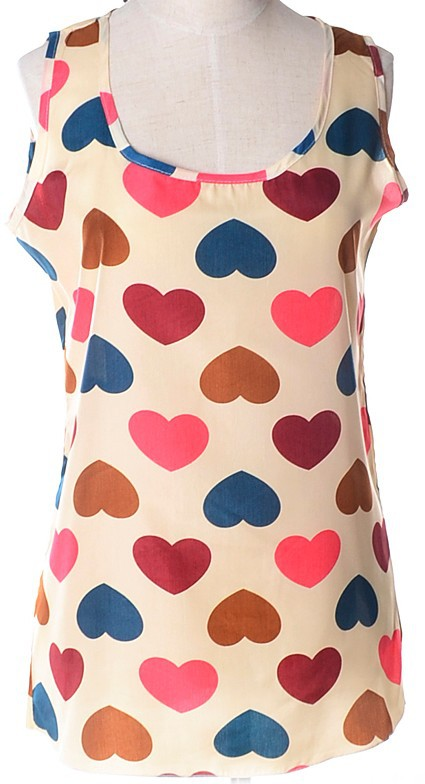 yousaylike 2015 танк симпатичные мода печать женщины блузка тропический топы свободного покроя шифон блузка дешевая одежда китай ропа mujer с-XXXL осенняя