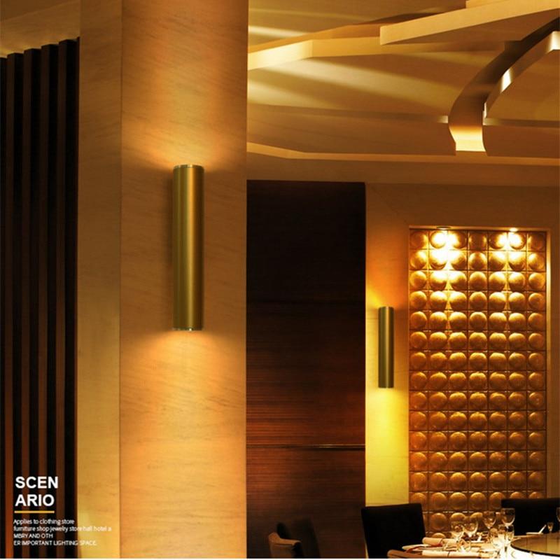 Northern Europe LED Creative Gold Wall Lamp Loft Bathroom Light Bar Hotel Bedroom Corridor Light Free Shipping цена