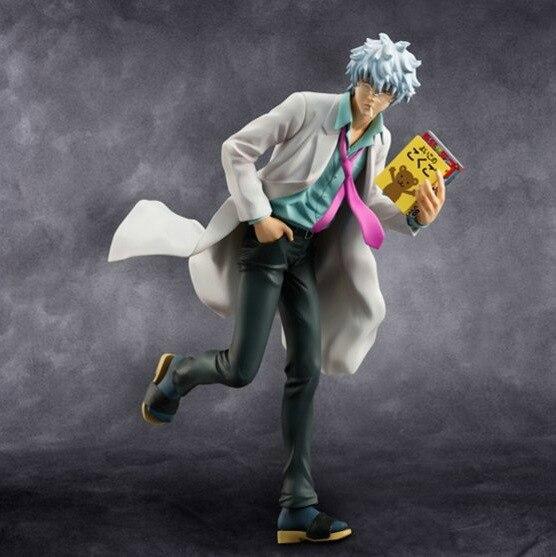 22cm Gintama Sakata Gintoki teacher Silver Soul action figure PVC toys collection doll anime cartoon model