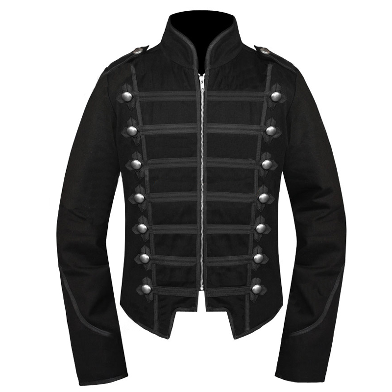 Emo Black My Chemical Romance Military Parade Jacket Costume Adult Halloween Carnival Cosplay Costume