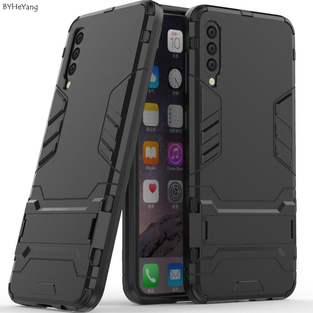 Para Samsung A50 funda A prueba de golpes armadura de goma de silicona funda dura para teléfono para Samsung Galaxy A50 2019 A 50 A505F carcasa de SM-A505F
