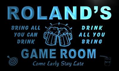 x0224-tm Rolands Game Room Bar Beer Custom Personalized Name Neon Sign Wholesale Dropshipping On/Off Switch 7 Colors DHL