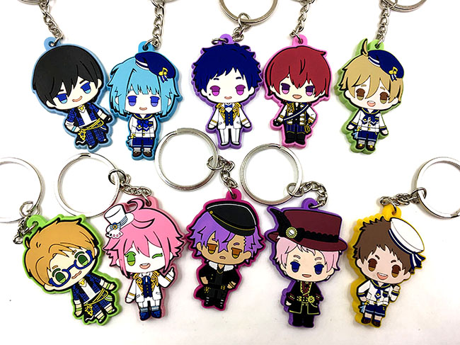 10pcs/lot Original Japanese anime figure Ensemble Stars rubber Silicone mobile phone charms/keychain diabolik lovers anime sakamaki ayato kanato laito shu reiji subaru mukami ruki japanese rubber keychain halloween sp3