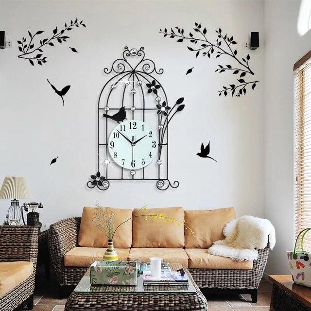 3D Grote Wandklok Modern Design Interieur Muur Horloges Woonkamer 19 ...