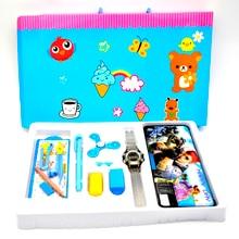 Niños reloj Digital Del Deporte Reloj Electrónico para Niño Juerga De Lujo Estudio Kit de Herramientas con Fidget Spinner Relogio Infantil