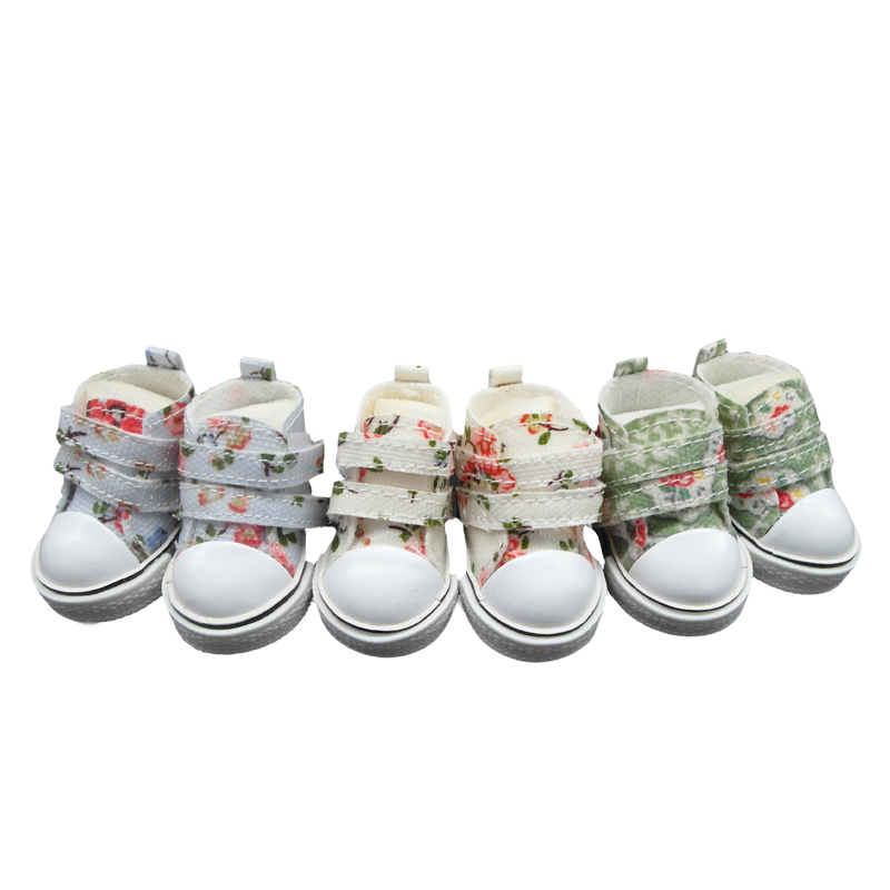 Tilda 5 cm BJD Doll Sneaker For BJD Dolls Toy Casual Floral Shoes 1/6 Leather Sneakers Shoes for Tilda Cloth Sewing Doll Toys 5 cm mini toy shoes casual bjd snickers shoes for bjd dolls 1 6 bjd doll shoes toy boots fashion dolls accessories 12 pair lot