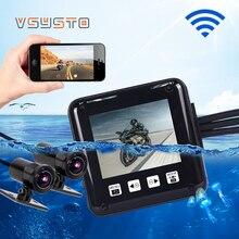 VSYSTO set completo impermeabile P6F WIFI driver video registratore moto DVR dual lens sony323 FULL HD 1080 p dash cam