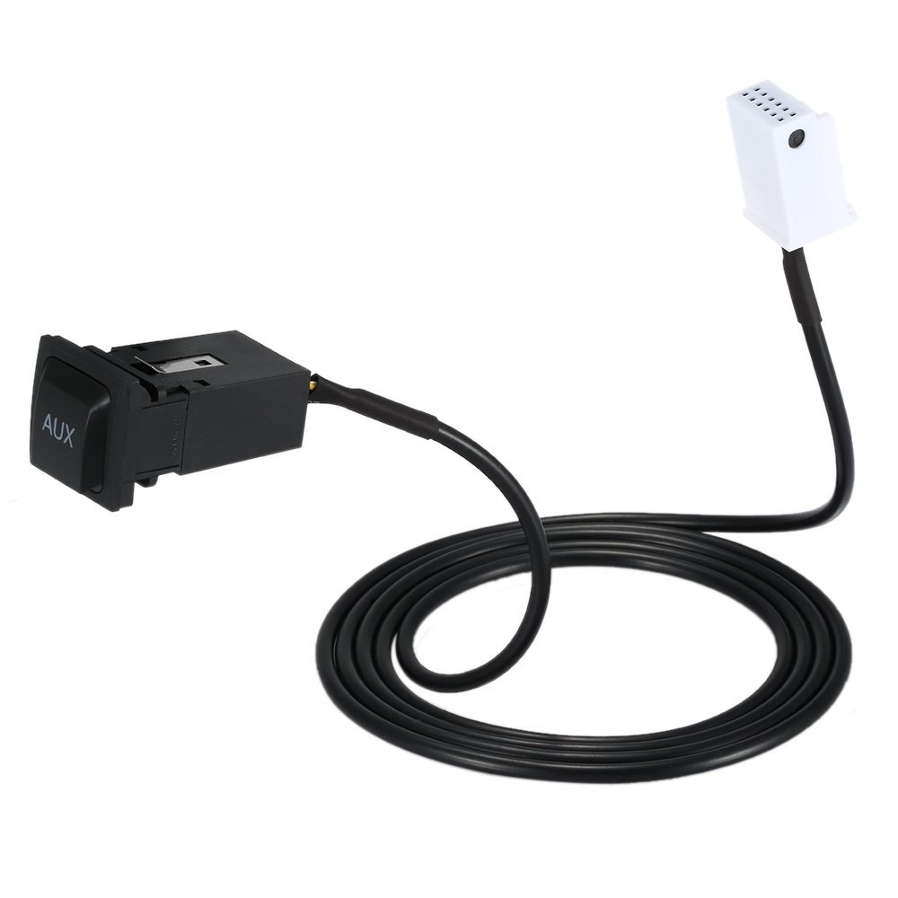 Aux IN Socket + Aux Cable For VW Jetta MK5 Rabbit Golf GTI
