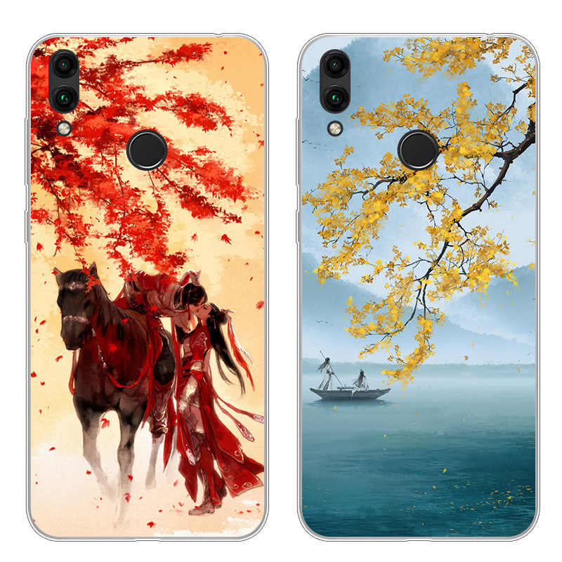 For Huawei Honor 8C Case Silicone Cover BKK-AL10 Coque Literary style soft Phone Cover For Honor 8 C AL00 360 Protective Funda