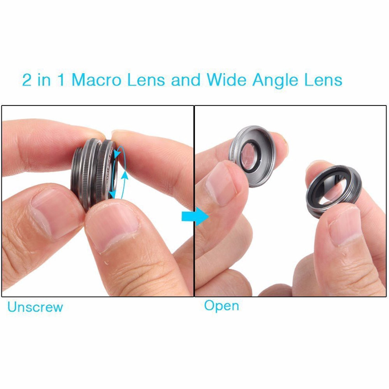 APEXEL 4 in 1 8X Telephoto Telescope Lens+Macro Lens+Wide Angle Lens+Fisheye Lens External Camera Lens For IOS Android Phone 8
