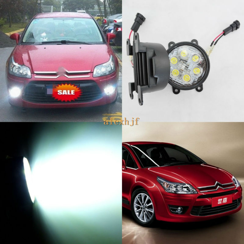 July King LED Day Running Lights 6500K 18W LED Fog Lamps case for Citroen C4 Sega C-Elysee BERLINGO C-CROSSER XSARA PICASSO etc