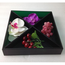 Черный акрил лоток для хранения всякой всячины, оргстекло Lucite фрукты/конфеты/пакетик подносы-для различных целей хранения Применение