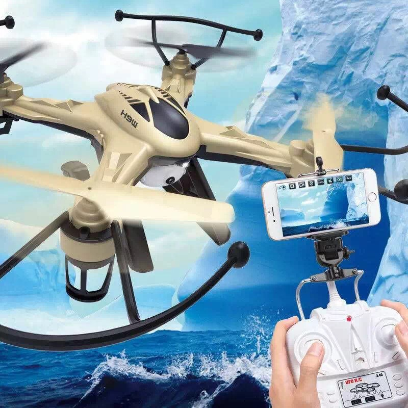 New Arrival JJRC H9W WiFi FPV Real-time Video Headless Mode RC Quadcopter 6-axis Gyro Drone UAV RTF with HD Camera