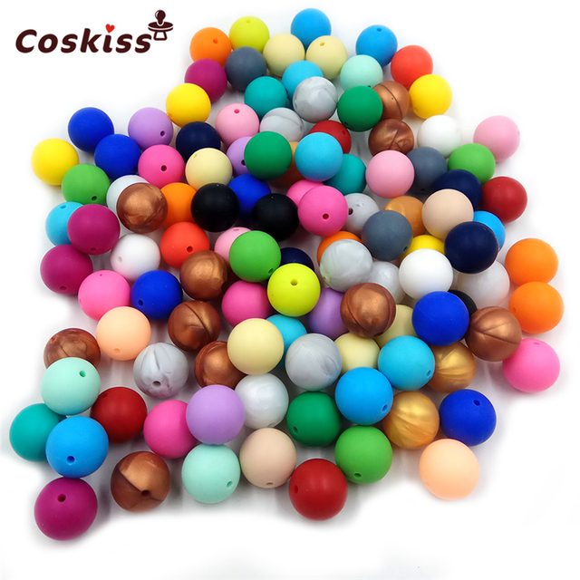 30 pc Silicone Natural Contas Redondas 12 MM Chew Beads Charme Pingente Colar de Enfermagem BPA Livre Silicone Dentição Do Bebê Mordedor brinquedos