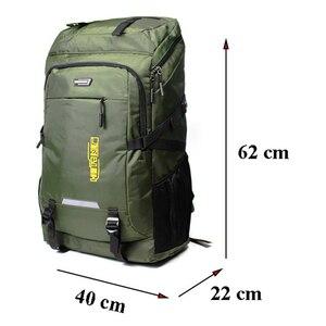 Image 2 - 80L Unisex Mannen Rugzak Travel Pack Sporttas Pack Waterdichte Outdoor Bergbeklimmen Wandelen Klimmen Camping Rugzak Voor Mannelijke
