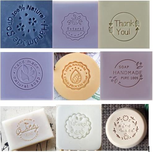 Round  Pattern Handmade Soap Stamp Clear Diy Natural Acrylic Organic Decorative Soap Making Custom Printing