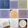 Круглый узор, штамп для мыла ручной работы, прозрачное натуральное акриловое органическое декоративное Мыло «сделай сам», индивидуальная п...