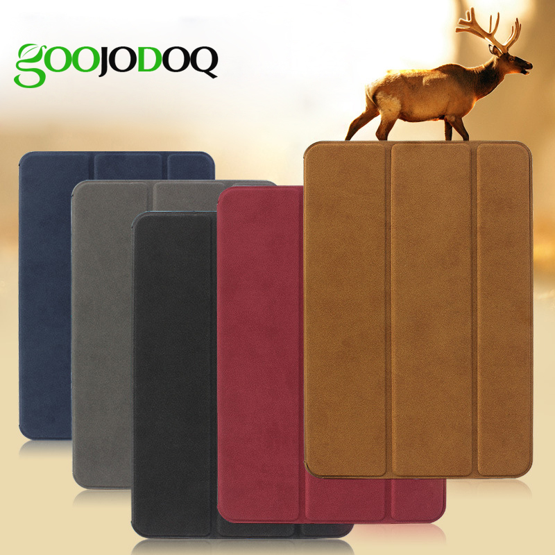 все цены на Case for iPad Air 2 Air 1 Case Original Matte Deer PU Leather Smart Cover for iPad Mini 3 2 1 Case Flip Auto Sleep/Wake up онлайн