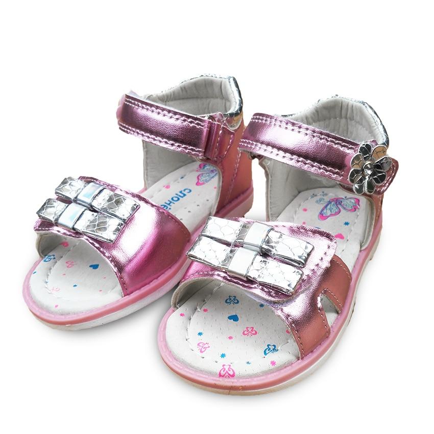 0247958cce0b6 Offre spéciale 1 paire or   argent et rose Bébé fille Des Enfants  Orthopédiques Sandales support de voûte plantaire Chaussures