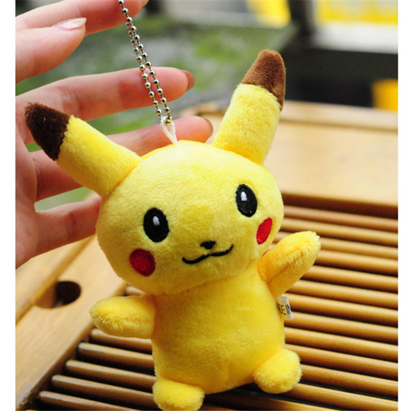 10CM Pikachu Plush Stuffed Toy Doll Kid's Party Keychain Gift Plush Toys Decor Pendant Toy