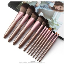 ESOREM 12pcs Soft Makeup Brushes Solid Wood Handle Cosmetic Brush Small Contour Blush Tapered Blending Pincel Maquiagem 5765