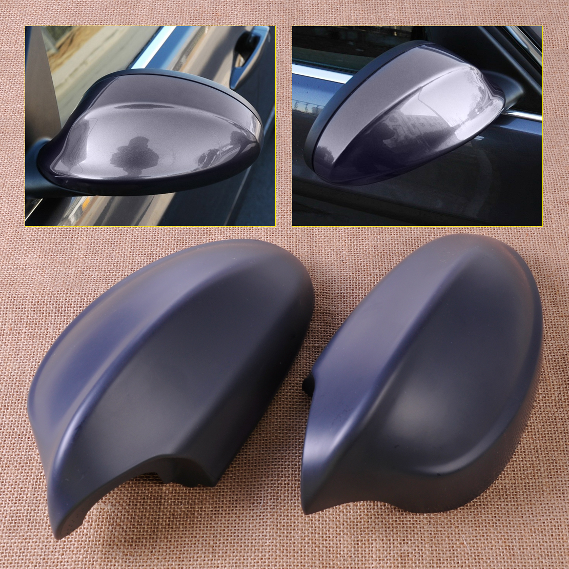 CITALL 2x Door Mirror Cap Cover Case 51167135097 51167135098 for BMW E90 E91 3 Series 325i 328i 330i 330xi 335i 328i 328xi 335i 2pcs angel eyes car auto white led light for bmw e90 e91 3 series 325i 328i 325xi 328xi 330i 06 08 excellent quality angel eyes