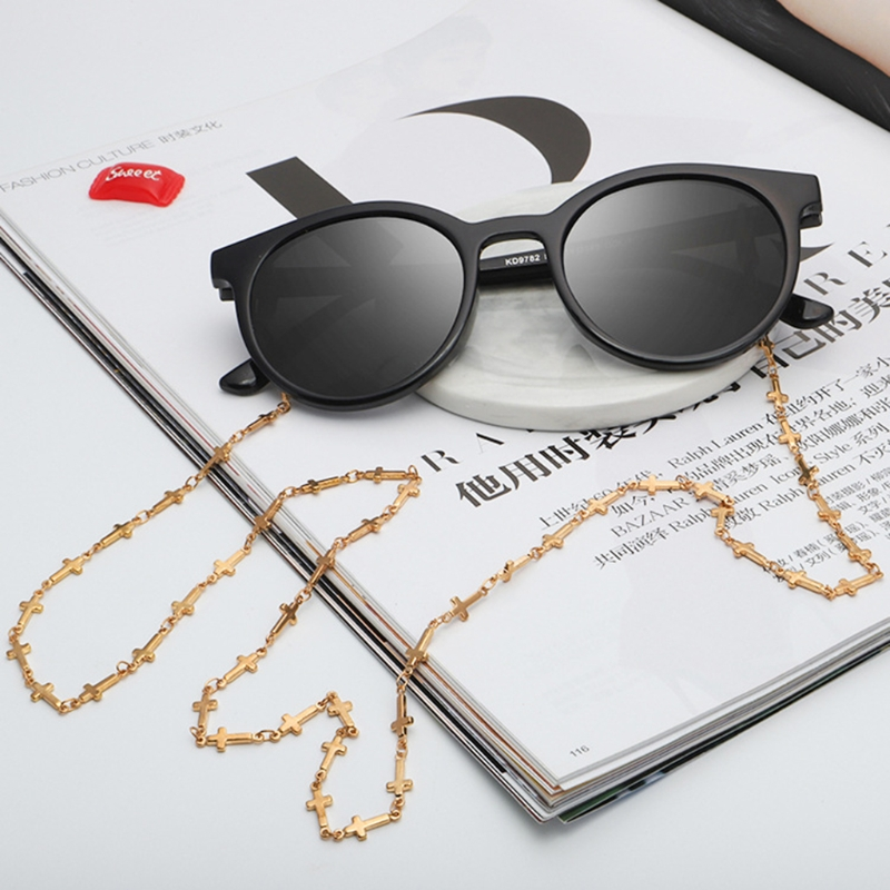 Free delivery Reading Glasses Chain Sunglasses Holder Neck Strap Metal Laces Eyewear Gold Rope