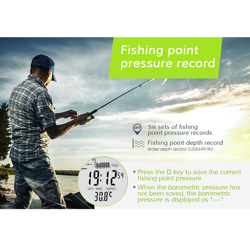 2019 Fishing Pocket Watch Multifunctional EL Backlight Resistant Altitude Meter Barometer Thermometer Wristwatch