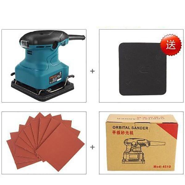 220V Electric Orbital sander Flat sanding machine Sandpaper grinding machine 13500rpm 5inch this fall 125mm pneumatic sander disc sandpaper machine bd 0142