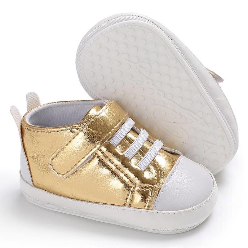 Baby Shoes Toddler Infant Girl PU Shoes Solid Waterproof First Walker Anti-slip Prewalker Baby Boy Shoes