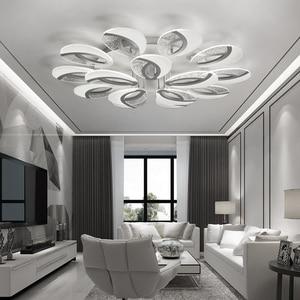 Image 3 - Moderne LED Decke lichter Mit Fernbedienung Für Wohnzimmer Restaurant Fitting Einstellen 3 Farben Für Schlafzimmer Küche Panel Lampe
