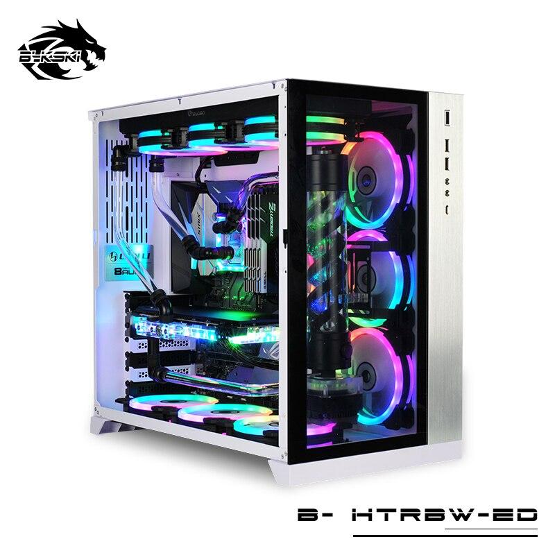 Комплект водяного охлаждения с жесткой трубкой Bykski, процессор + GPU MOD, жидкокристаллический охлаждение, с разделением, с функцией охлаждения,