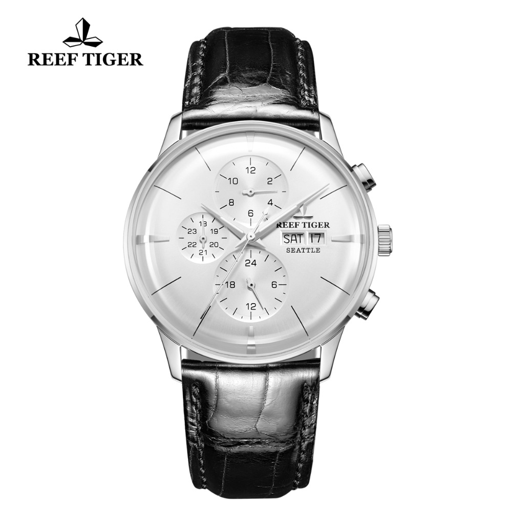 Reef Tiger/RT Chronograph Men Watch Top Luxury Multi Function Watch Ultra Thin Automatic Watches Leather Band RGA1699Reef Tiger/RT Chronograph Men Watch Top Luxury Multi Function Watch Ultra Thin Automatic Watches Leather Band RGA1699