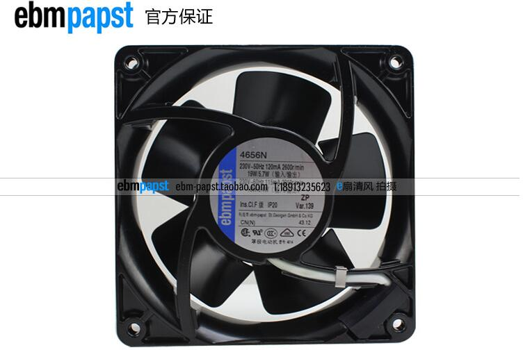 ebm papst 4656N AC 230V 19W 120x120X38mm Server Square fan ebm papst 4800z 4800 z ac 115v 0 16a 0 14a 13w 12w 120x120x38mm server square fan