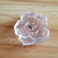 Dia 50mm Large Acrylic Rose Flower Cabinet Knob Drawer Dresser  Pull Handle Kitchen Cupboard Closet Door Knobs