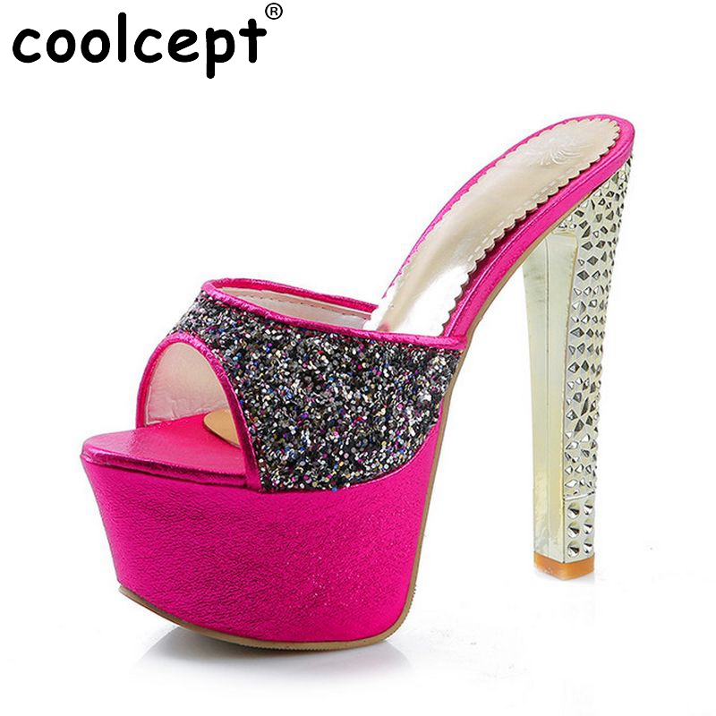 women stiletto ankle strap platform high heel sandals brand sexy fashion ladies heeled footwear heels shoes size 33-40 P17649 professional customize 17cm platform high heeled stiletto stage shoes fashion strap boots black strappy ankle boots
