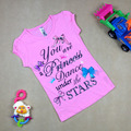 Summer fashion girl short sleeve T shirt top lovely girl cotton T-shirt pink colors good quality