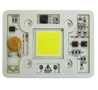 1pcs Super Bright 50W 6000LM Cool Pure White 6000k 6500k Warm White 3000k 220V COB LED