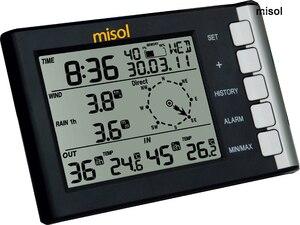 Профессиональная Погодная станция скорость ветра направление ветра температура влажность дождь 433 МГц