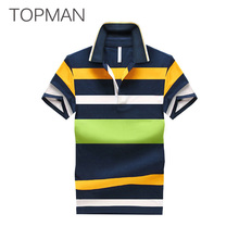 Stripe Polo Homme Short Sleeve Brand Clothing Cotton Fashion Casual Classic Polo Shirt Plus High Quality Anti-Pilling Tommis