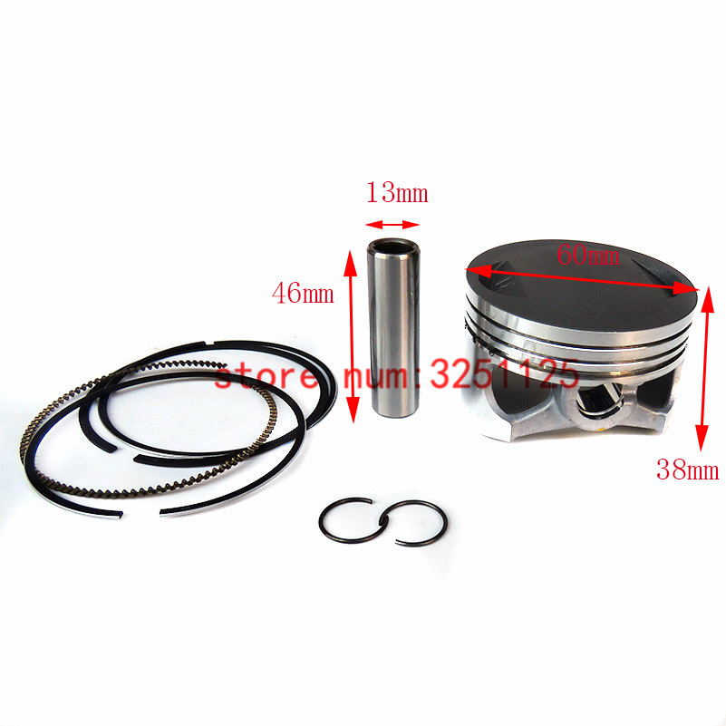 Engine Parts 60mm Piston 13mm Ring Set For YINXIANG YX 160cc Dirt Bike