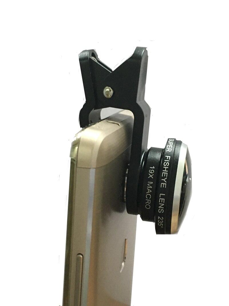Orbart 235 derajat supre fisheye 19x makro 2 in 1 lensa telepon untuk - Aksesori dan suku cadang ponsel - Foto 3
